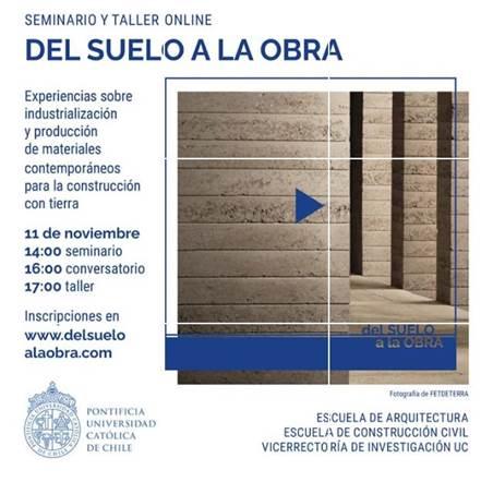 """Seminario y Taller online """"Del Suelo a la Obra"""""""
