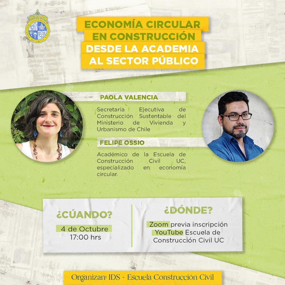 Conversatorio: Economía Circular en Construcción: Perspectivas desde la Academia y el Sector Público